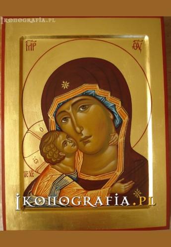Matka Boska Włodzimierska (fragment)-ikona-ikonografia.pl