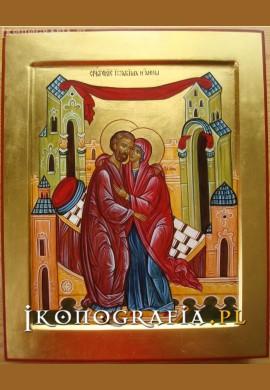 Spotkanie św. Joachima i św. Anny ikona