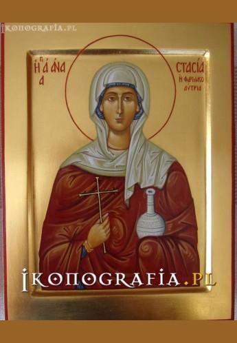 Ikona pisana św. Anastazja - Ikonografia.pl