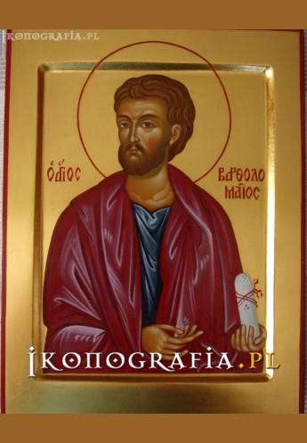 Ikona pisana św. Bartłomiej - Ikonografia.pl