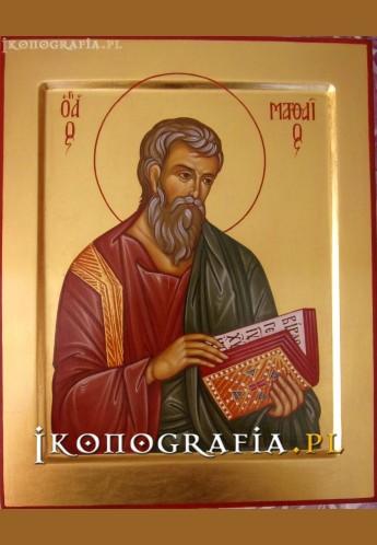 Ikona pisana św. Mateusz - Ikonografia.pl