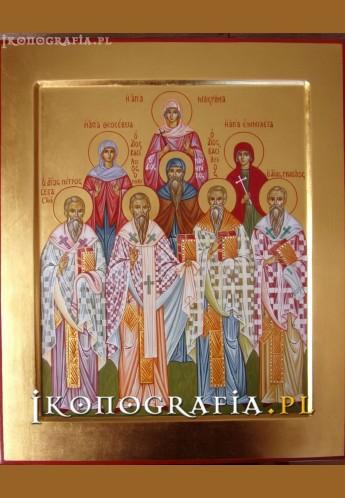Ikona pisana św. Emilia z Rodziną - Ikonografia.pl